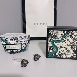 Gucci Tiger sterling silver cuff links